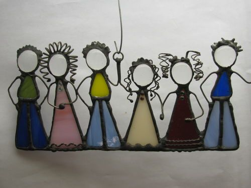 Little People Stained Glass Family | eBay