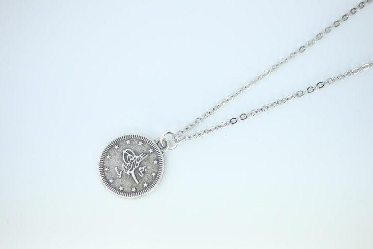 Silber Münzkette