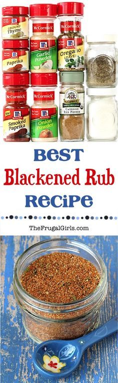 Chicken Rub Recipes!  This Blackened Rub Recipe for the oven or grill is great on chicken, steak, and fish!  So EASY to make, and it adds so much flavor! | TheFrugalGirls.com