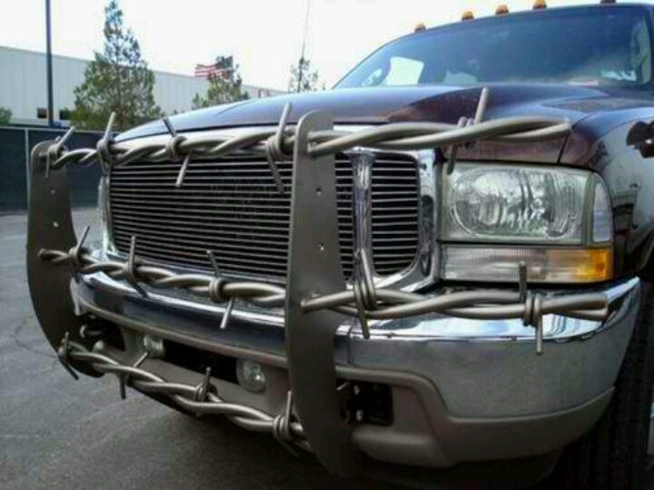 Barbed Wire For Power Stroke Push Bar Bumper Misc Pinterest - Barb wire custom vinyl decals for trucks