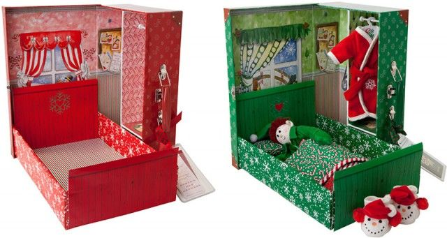 Bed in a Box. click on link to download free templates. http://www.elf-magic.com/em/2012/09/bed-in-a-box/