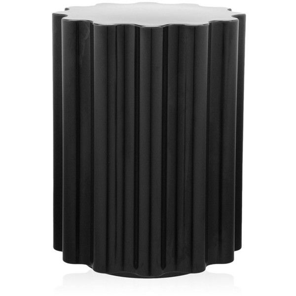 Kartell Colonna Stool - Black ($297) ❤ liked on Polyvore featuring home, furniture, stools, black, outdoor furniture, black outdoor furniture, black colored stool, colored furniture and kartell stool