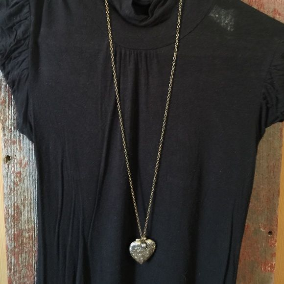 Necklace Heart shaped locket! One of my favorites! Worn but in decent condition! Jewelry Necklaces