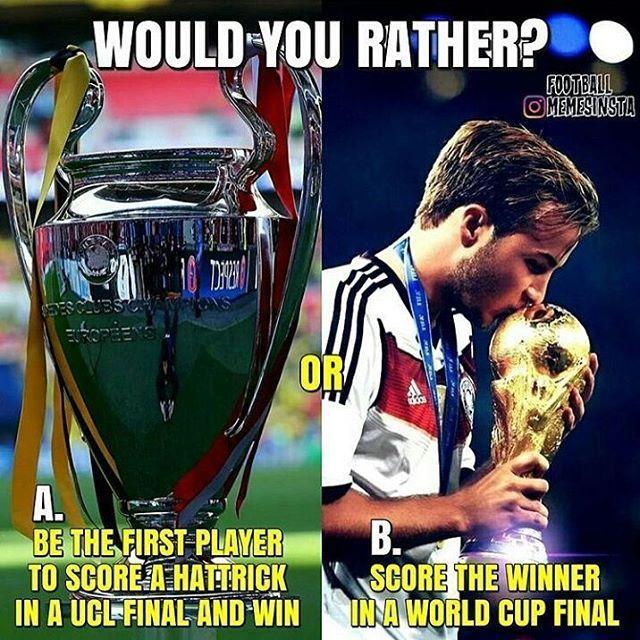 A or B?  ----- #football #soccer #futbol #nike #adidas #realmadrid #fcb #bvb #bayern #chelsea #liverpool #ronaldo #messi #suarez #l4l #neymar #pogba #zlatan #mourinho #f4f #cr7 #bundesliga #laliga #bale #neuer #pirlo #dybala #juventus #leicester #fifa17