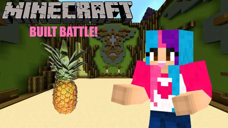 Let's Play Minecraft Minigame (Built Battle) Episode 2: A pineapple! INT...