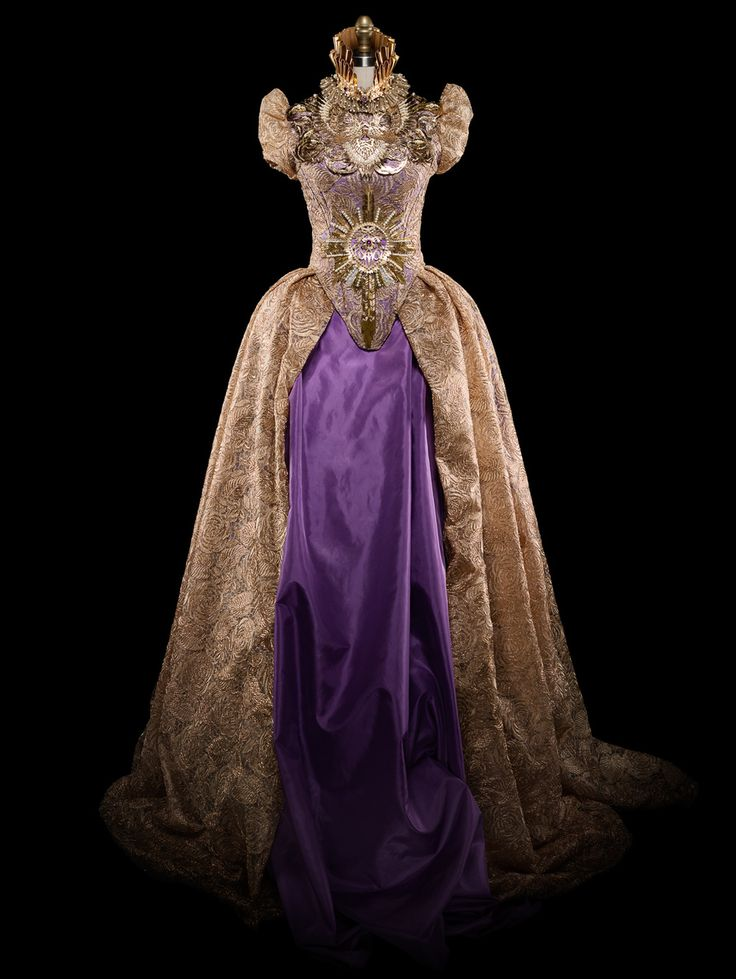 IMAGE © Alexia Sinclair GOWN - GOLD LACE & PURPLE SILK TAFFET