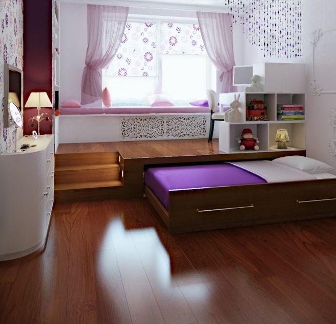dar evler için yatak odası