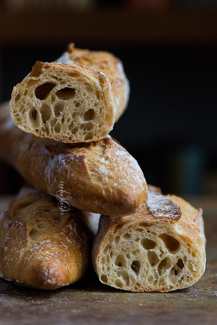 Naturally leavened baguettes. By Sylvain Vernay.