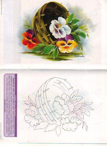Encontrei por acaso essa linda cesta de flores no Picasa, caso tenham problema para acessar o link, me deixem saber ;)