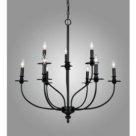 Westmore Lighting Spades 29-in 9-Light Oil-Rubbed Bronze Candle Chandelier