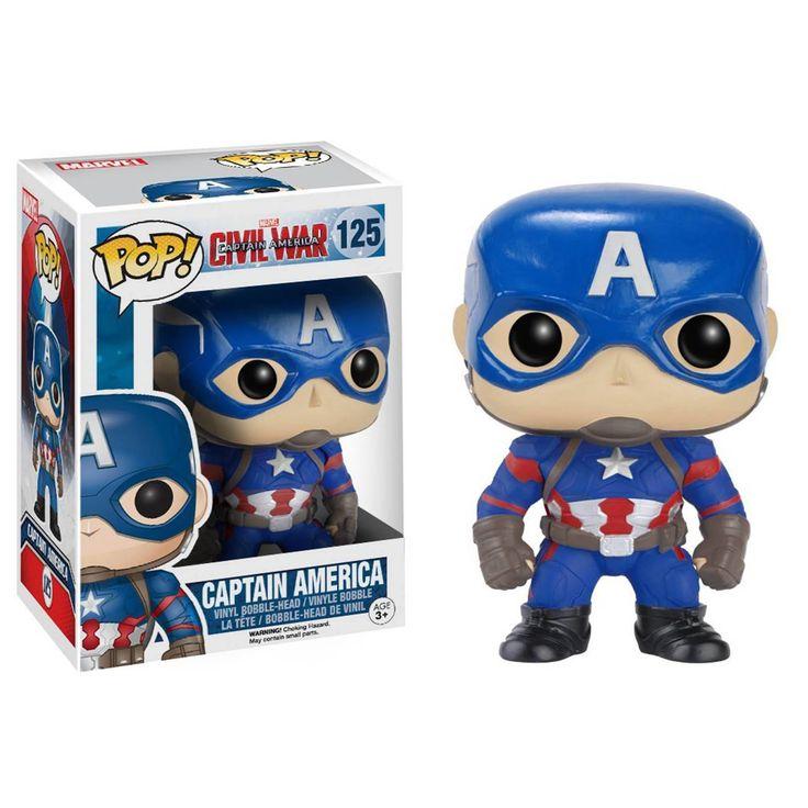 Funko Civil War POP Captain America Bobble Head Vinyl Figure - Radar Toys