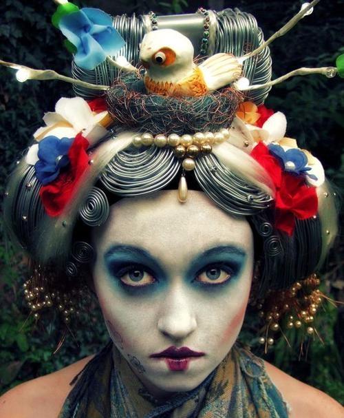 geisha inspired make-up and hair