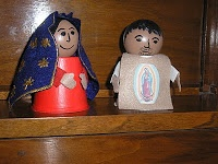 Yogurt cup St. Juan Diego and Mary (Our Lady of Guadalupe)