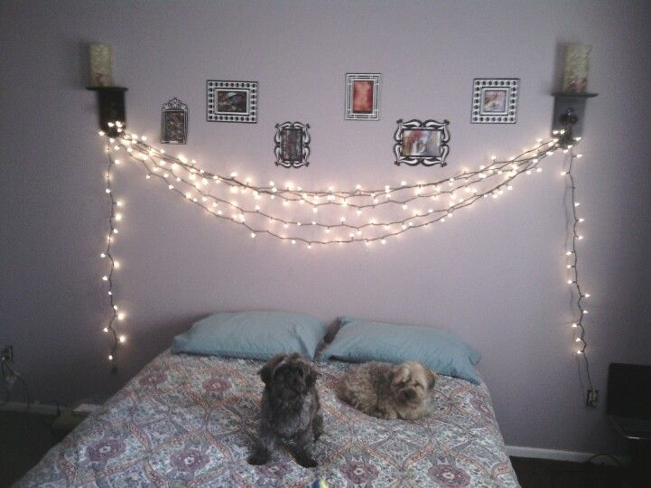 Rather Then Keeping The Christmas Lights Stored Up In The Closet I Decorated My Bedroom Wall