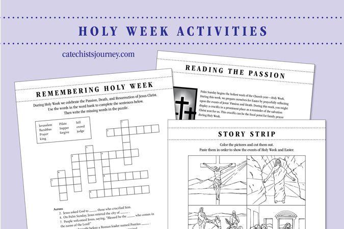 Holy Week Activities Pack