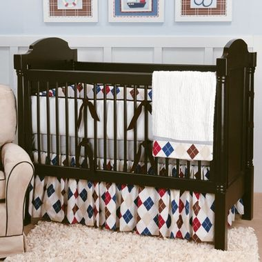Ivy League Blue Crib Bedding By Doodlefish Is Perfect For A Preppy Baseball Theme