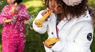 The Home - Mother's Corn stackable & touchable Bubble Set great sensory activities for the little ones... and the kids at heart.