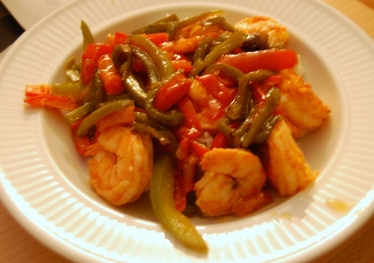 Garlic-Roasted Shrimp with Red Peppers and Smoked Paprika | Recipe