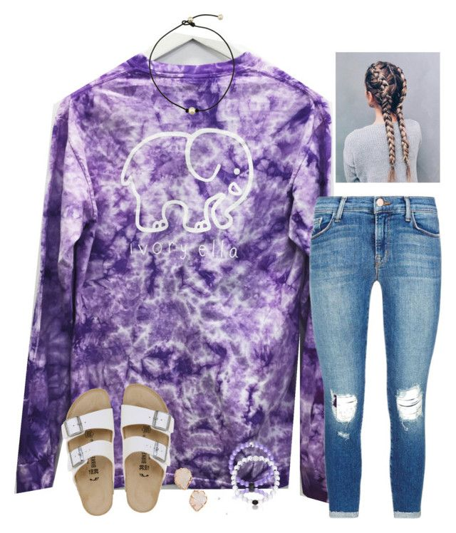 """""""Question of the day #27"""" by raquate1232 ❤ liked on Polyvore featuring J Brand, Birkenstock and Kendra Scott"""