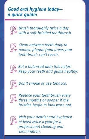Good oral hygiene   Dental Health