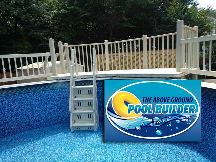 Resin deck from inside pool above ground pool decks for Above ground pool decks nj