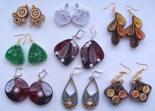 Quilling Earrings More Designs : quilled earrings Art Stuff to make with the kids Pinterest Design, Earrings and The o jays
