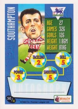 1996-97 Merlin's Premier League #50 Matthew Le Tissier Back