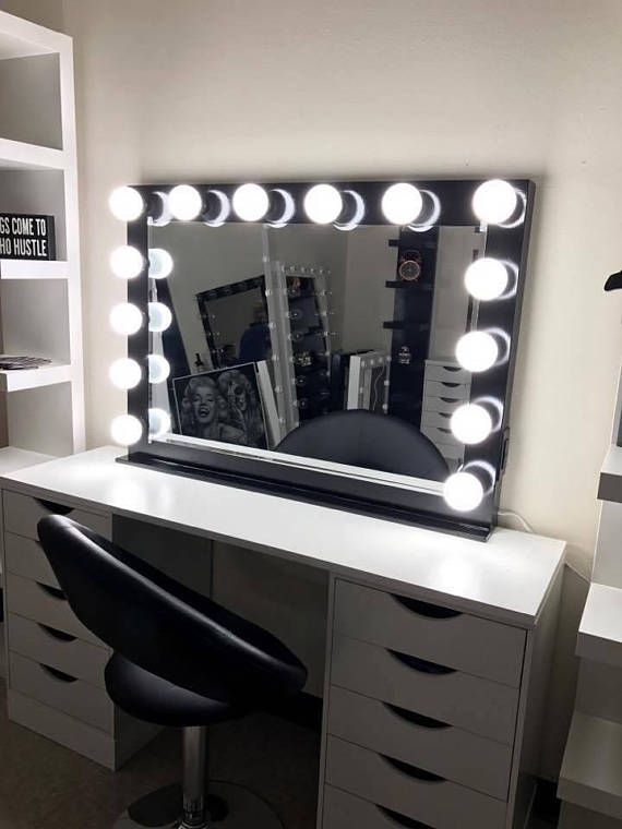 Vanity Mirror With Lights Dimmer 2plug Outlet Base