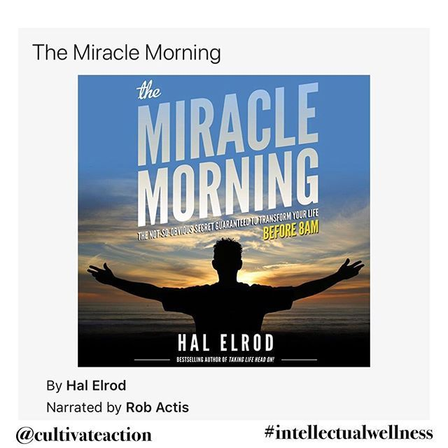 Im falling a bit behind in posting the books Ive complete in my #52booksin52weeks commitment.  #5 on the list is the Miracle Morning by Hal Elrod @hal_elrod  Despite this being a great book I have to honest in that the first couple of chapters sounded like an informercial. Talking about what the book is going to do for you and the technics it is going to share with you.  Once you get through that the book was actually really good. The fact is you have to realize you are youre greatest asset…