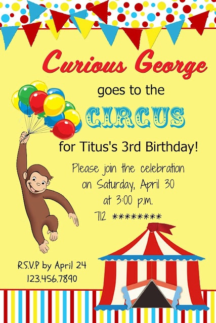 Curious George free printables!