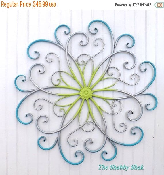 large metal wall art bedroom wall decor turquoise silver lime metal wall decor