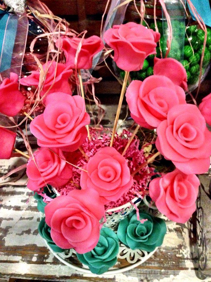 Mazapanes en rosas