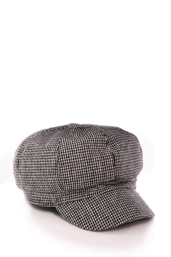 Black White Check Baker Boy Hat  09a861740c4