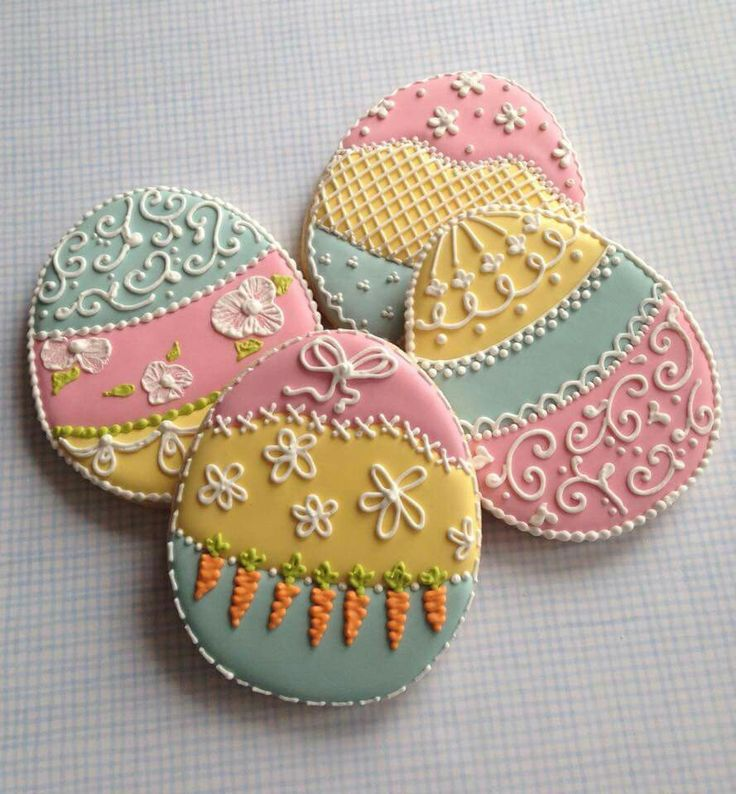 Frosting - Cakes & Cookies: Easter eggs. So pretty!