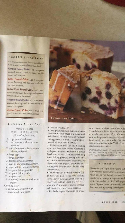 Susan's Blueberry Pound Cake