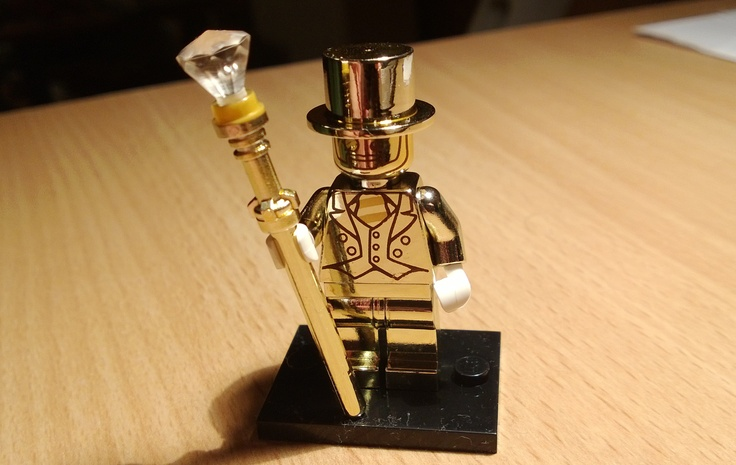 Our LEGO Ambassador, Charlie found a Mr. Gold minifigure in Budapest.
