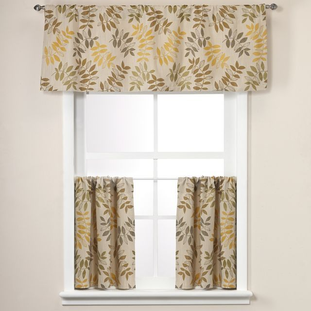 give your window an eyecatching update with the crypton hudson window curtain tier pair and valance the perfect way to ehance your room dcor the crypton