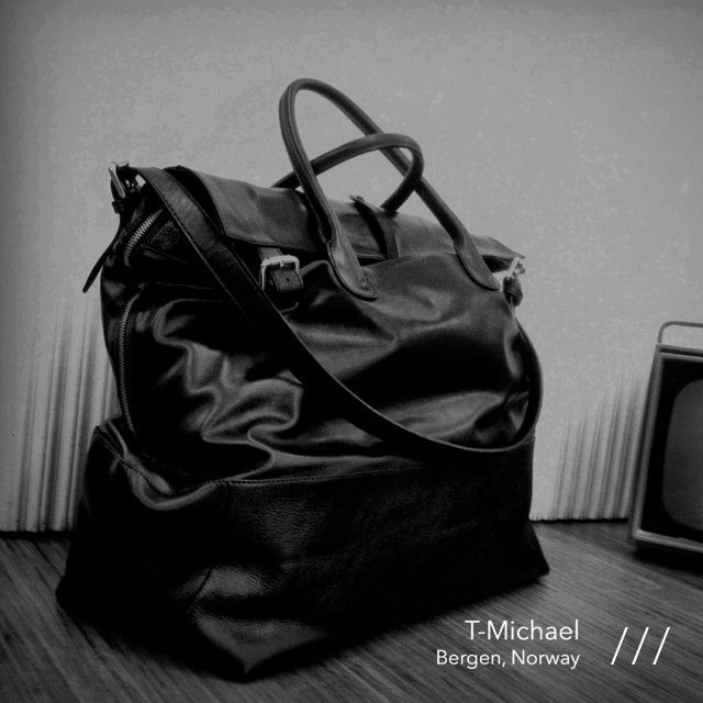 T COAL Bag designed for The ACF COAL Project by T-Michael.  #tmichael #tcoal #artcomesfirst #acf #thecoalproject #blackleather #manbag #mensfashion #bespoketailor #sartorial #menswear #pamapp #bergen #norway