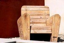 fauteuil club en bois de r cup ration de face bois. Black Bedroom Furniture Sets. Home Design Ideas
