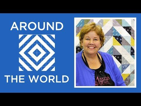 Half Square Triangles Around the World Quilt: Easy Tutorial with Jenny Doan of Missouri Star - YouTube
