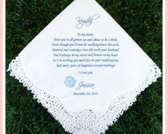 Mother of the Groom Handkerchief from the by LovelyHankies2015