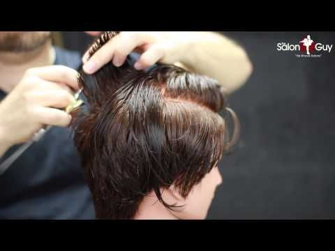 Anne Hathaway Inspired Haircutting Tutorial - YouTube