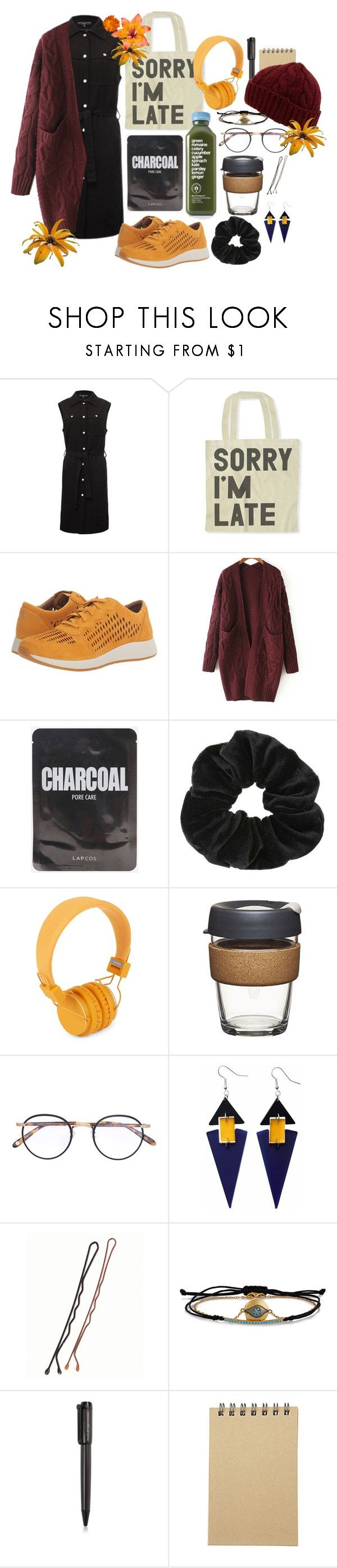 """on my way to uni"" by nover on Polyvore featuring Doriane van Overeem, Dansko, WithChic, Miss Selfridge, Urbanears, Garrett Leight, Toolally, IaM by Ileana Makri, Harley-Davidson and Muji"