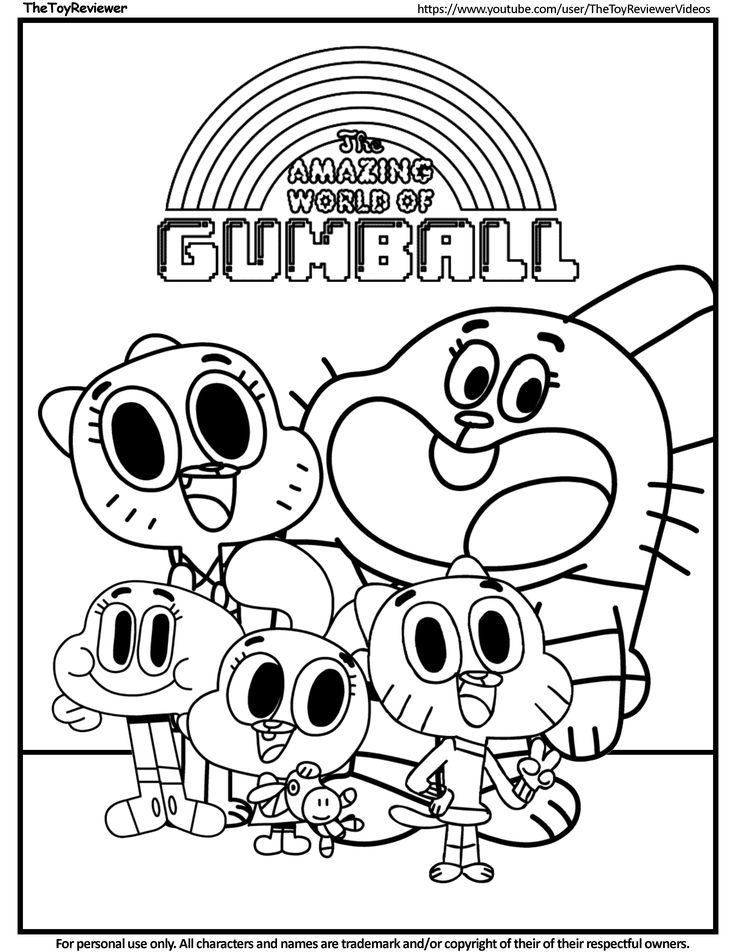 cn coloring pages | Here is The Amazing World of Gumball Coloring Page! Click ...