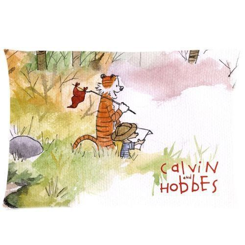 Popular Cartoon Calvin and Hobbes Rectangle Pillowcase 20x30 20x36 One Side size:20x36 @ niftywarehouse.com #NiftyWarehouse #CalvinAndHobbes #Comics #ComicStrip #ComicStrips #Funnies #SundayComics