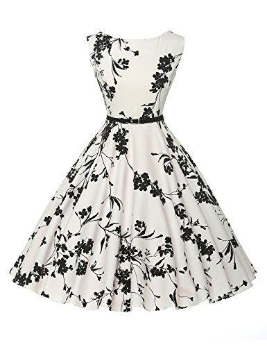 Chic Vintage années 50 s Style Audrey Hepburn Rockabilly Swing robe de fête de pique