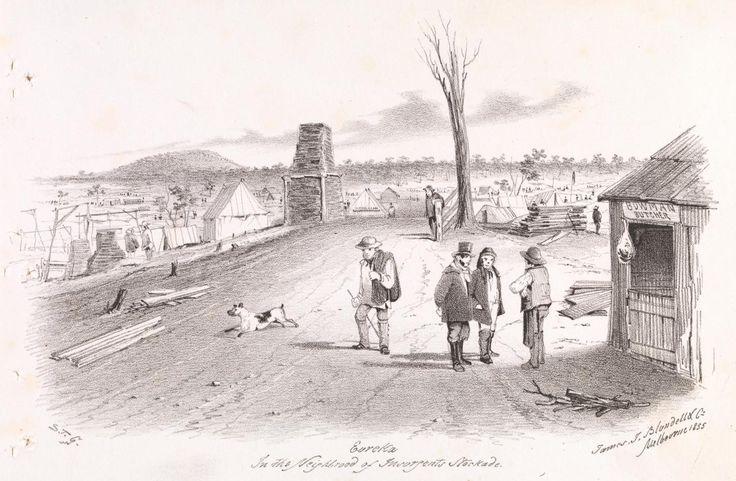 Eureka in the neighbourhood of insurgents' stockade 1855 S.T.Gill