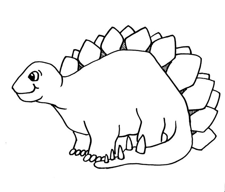 Simple Coloring Pages Printable Dinosaurs