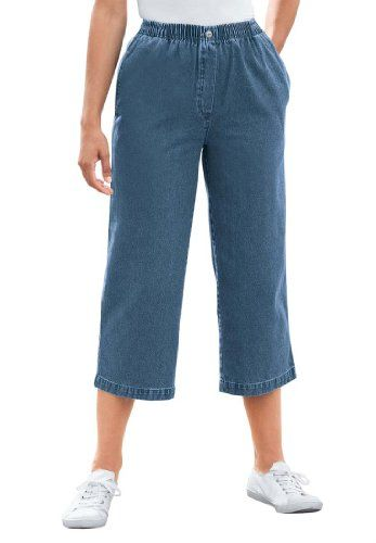 http://goin-blind.net/wp-content/uploads/2014/07/Womens-Plus-Size-Jean-capris-in-denim-or-twill-mock-fly.jpg - Women's Plus Size Jean capris, in denim or twill, mock fly - http://goin-blind.net/womens-plus-size-jean-capris-in-denim-or-twill-mock-fly/