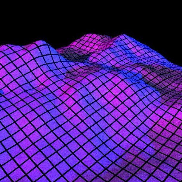 Aesthetic Background Grid Purple Tumblr Vaporwave